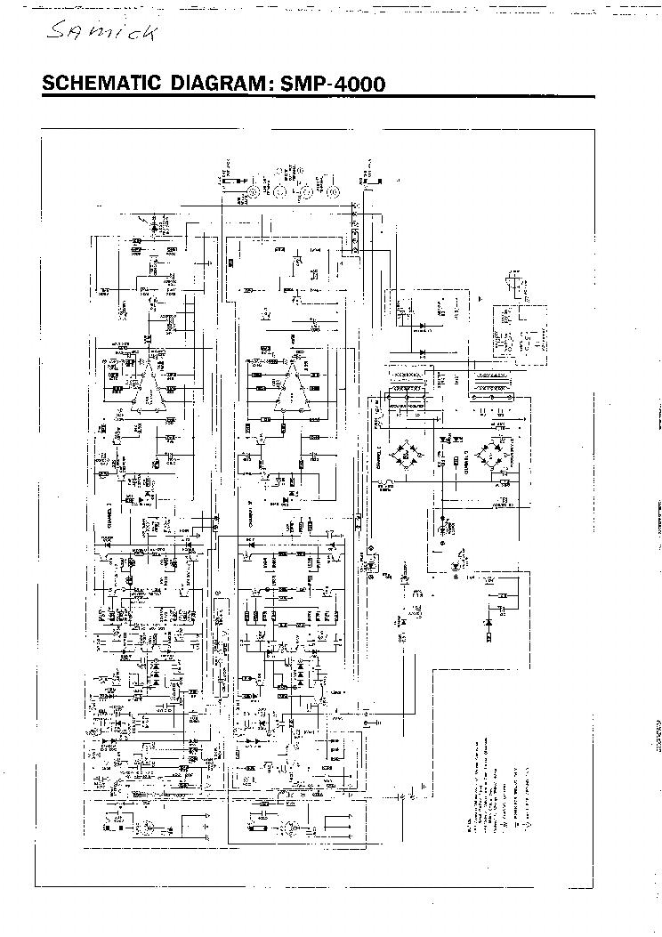 ampli sono samick smp 4000